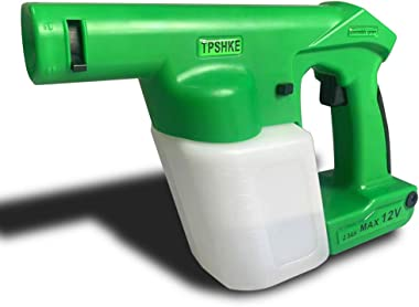 N\A TPSHKE Cordless Electrostatic Handheld Sprayer Green Professional Hand Held Electrostatic Spray Gun (16.9 Oz Tank)