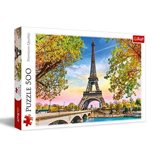 Trefl, Puzzle, Romantisches Paris, 500 Teile, Premium Quality, für Erwachsene und Kinder ab 10 Jahren