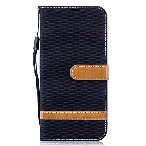 Lederen portemonnee hoesje voor Galaxy A50 / A50S / A30S Flip Case Beschermend schokbestendig Cover met magnetische sluiting, standfunctie, kaartsleuven voor Samsung Galaxy A50 - JEBF030246 zwart