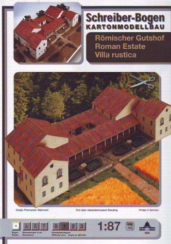 Aue Verlag Schreiber-Bogen Card Modelling Roman Estate Villa