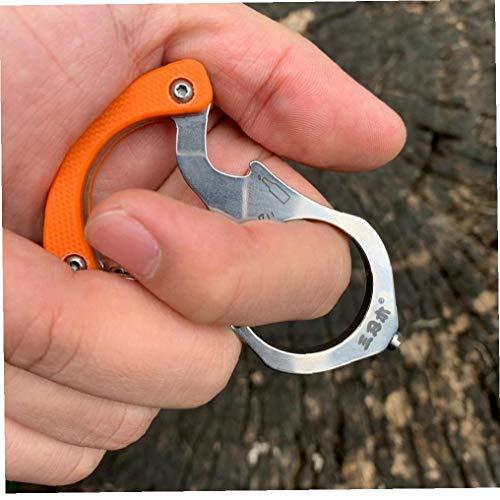 Lankater 1pc Multifunktions-schlüsselkette/Ring/Buckle, Multi-Tools Outdoor-Camping-Werkzeug Auto Rettung Glasbrecher (zufällige Farbe)