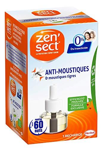 Zen'Sect Recharge Liquide pour Diffuseur Electrique Anti–Moustiques et Moustiques Tigres – 24mL – 0% Insecticide – Jusqu'à 60 Nuits