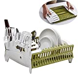 Collapsible Dish Rack and Drain Board Small, Tomorotec Home...
