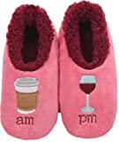 Snoozies Pairables Womens Slippers - House Slippers - AM/PM - Small