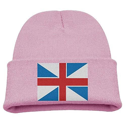 DearLord Georgische Flagge, Kindermütze, Winter, lustig, weich, gestrickt, Unisex, Rosa
