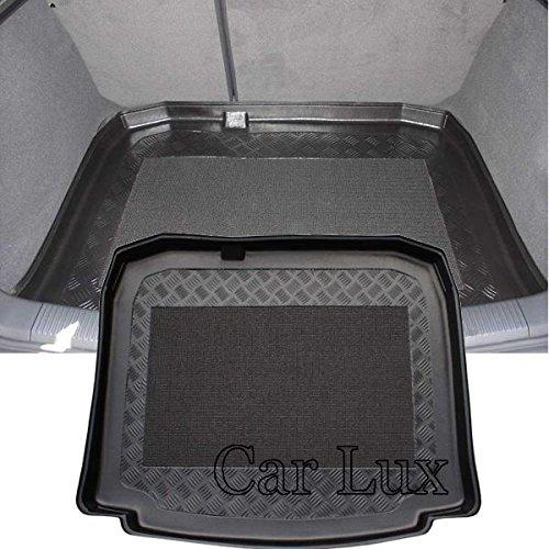 Car Lux AR01032 - Alfombra Bandeja Cubeta Protector cubre maletero a medida con antideslizante para A3 8p Sportback