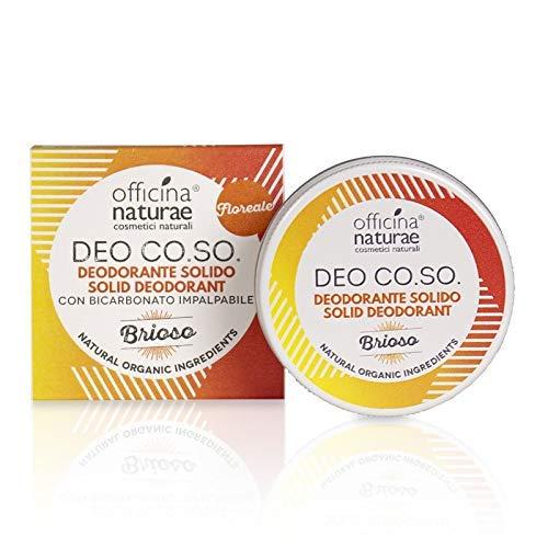 Officina Naturae Deo Co. So. Brioso Floral Déodorant Solide Bio Plastique sans avec Bicarbonate 50 ML