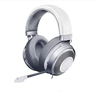 Ps4 headphones In-line Lightweight Headband Retractable Microphone 7.1 Symphony For PC, PS4, Xbox One Headphones xbox headsets (Color : Silver)