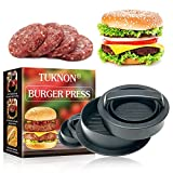 TUKNON Burger Press, Pressa per Hamburger, Stampo per Hamburger, 3 in 1 Kit di Stampo per Hamburger Hamburger ripieno Burger Maker per BBQ, Grill e Cucina
