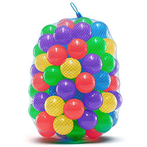 Bolas de Plástico Colores para Bebés | Bolas para Piscina Infantil, Castillo Hinchable, Túnel Plegable, Parque Infantil Exterior | Resistentes, Atóxicas, sin Ftalatos | Juego de 100 Bolas