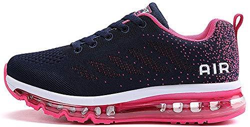 tqgold Sportschuhe Herren Damen Laufschuhe Turnschuhe Sneakers Leichte Schuhe (Rosa,39 Größe)