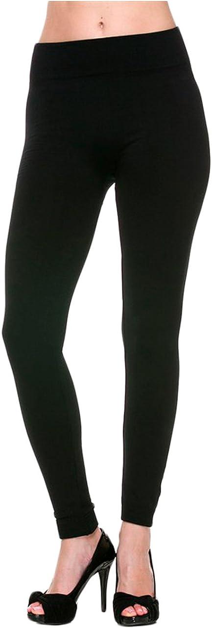 Vivian's Fashions Long Leggings - Fleece-Lined, Plus Size