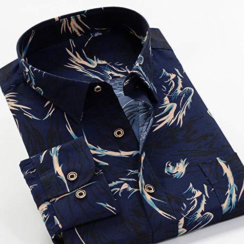 Camisa Camisa de manga larga estampada de primavera y otoño Camisa clásica de flores de moda para hombres 13 Elección de color se aplica al trabajo de negocios o al uso diario etc.-226093_9XL-49