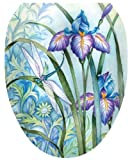 Toilet Tattoos, Toilet Seat Cover Decal, Iris Beauty, Size Elongated