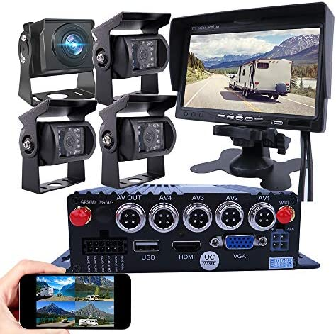 JOINLGO 4 CH GPS WiFi 1080P AHD Mobile Vehicle Car DVR MDVR Video Recorder Kit Remote Live View product image