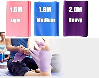 comprar comparacion DoGeek-3x Bandas de Resistencia para Pilates Yoga, Ballet, Gimnasia y rehabilitación. (Rosa, Morado,Azul)