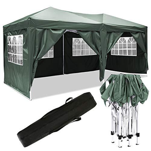 Bunao 3x6m Pop Up Garden Canopy Waterproof Gazebo Camping Tent Shelter Outdoors (3x6M, Type 21)
