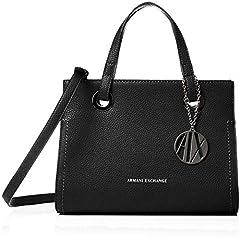 Idea Regalo - ARMANI EXCHANGE Small Shopping Bag - Borse Tote Donna, Nero (Black), 20x13x26 cm (B x H T)