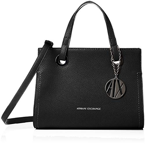 ARMANI EXCHANGE Small Shopping Bag - Borse Tote Donna, Nero (Black), 20x13x26 cm (B x H T)