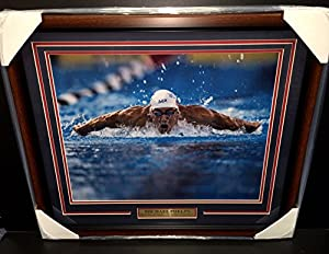 Michael Phelps Olympic 23 Gold Medals Record Framed 16x20 Photo Usa