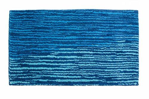 SCHÖNER WOHNEN-Kollektion, Mauritius, Badteppich, Badematte, Badvorleger, Design Streifen - blau, Oeko-Tex 100 zertifiziert, 70 x 120 cm