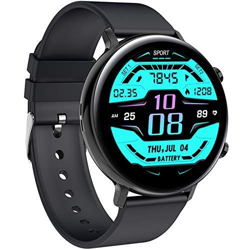 Omabeta Reloj inteligente de la manera exacta de la pulsera de la llamada de Bluetooth del dial redondo para adultos