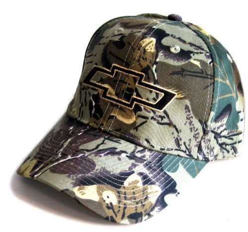 Gregs Automotive Camo Camouflage Bowtie Hat Cap Compatible with Chevrolet Chevy - Bundle with Driving Style Decal