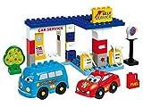 Unico Cars for Kids 8565 - Juego de construcción de gasolinera (43 Piezas)