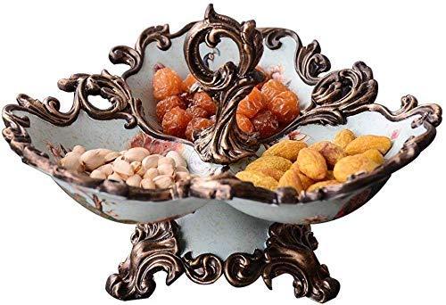 YNHNI Fruit Plate Fruit Basket Snack Plate Fruit Plate Une Assiette de Fruits secs Bonbons Vaisselle rétro Petit Assaisonnement Bowl Décoration Plate Snack Bonbons Boîte de Rangement Plateau