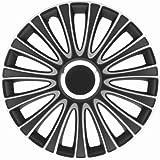 Universal Radzierblende Radkappe Le Mans schwarz/silber 16' 16 Zoll Kia Cee'd Picanto Rio