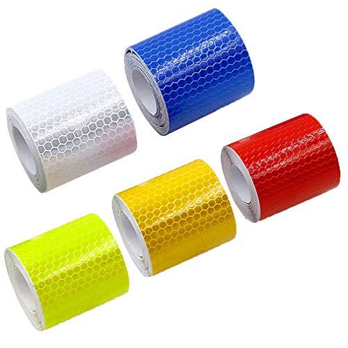Reflektoren Aufkleber Sticker Fahrrad-Reflektorenaufkleber Reflektierende Aufkleber 5 pcs *1M Qualitäts-Reflexfolie für Kinderwagen Fahrrad Fahrradfelgen und helme Trekkingbike-, Fahrradfelgen & mehr