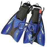 Aqua Lung Sport Schnorchelset für Kinder, Taucherbrille größenverstellbar L blau