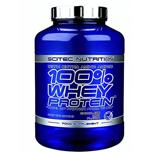 Scitec Nutrition 100% Whey Protein con aminoácidos adicionales 2,35 kg - Sabor - Chocolate-Menta