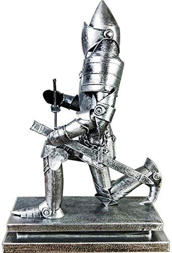 DQQQ Caballero Medieval Estatua Soldado Modelo Retro Xiwu Caballero Romano Samurai Artesanía Decoración