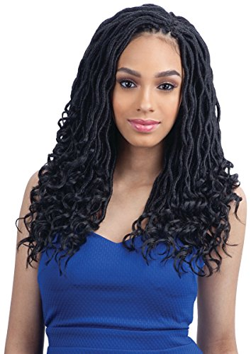 GODDESS LOC 14' (1B Off Black) - FreeTress Synthetic Crochet Braid
