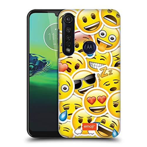 Officiële emoji® Sticker Smileys Hard Back Case Compatibel voor Motorola Moto G8 Plus