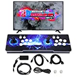 SupYaque Pandora Box Retro Video Arcade Games Console Support 3D Games Built-in 3300 Games,Search Games Function,Favorite List,1280x720P with Double Players Control Joystick(Black)