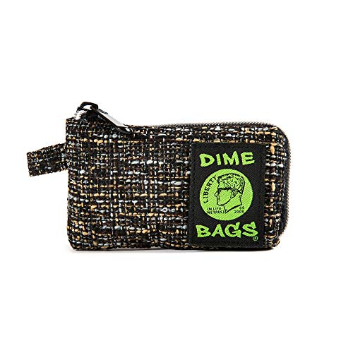 Dime Bags Padded Pouch with Soft Padded Interior | Protective Hemp Pouch for Glass with Interior Smell Proof Pocket (Concrete, 5-Inch)