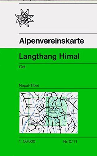 Langthang Himal, Ost: Nepal - Tibet, Topographische Karte 1:50.000