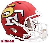 San Francisco 49ers AMP Alternate Series Riddell Speed Full Size Replica Football Helmet - NFL Replica Helmets