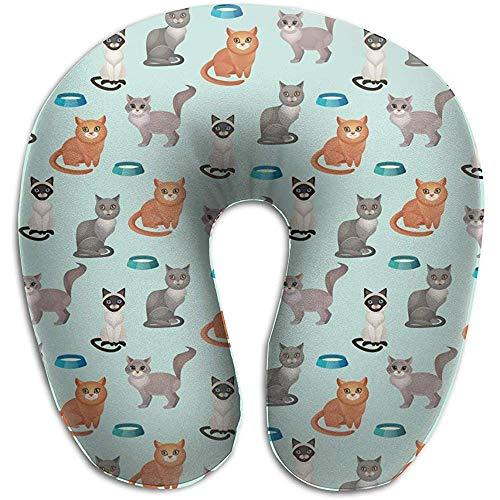 Like-like Cats Food Bowl Modello Senza Cuciture a Forma di U...