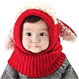 Bufandas del Bebé, Bebé Unisex-caliente Cachorro Puppy Bufanda Mantón Bebé Infantil Smart Hat (rojo)