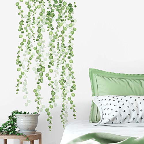 RoomMates RMK3903SCS String of Pearls Succulent Vine Peel and Stick Wall Decals