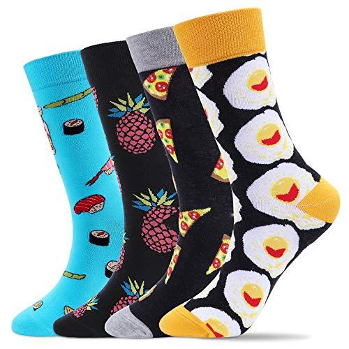 ECOMBOS Bunte Socken Herren - Lustige Oddsocks Bunt Socken Stricken Baumwolle Kuschelsocken Funny Crazy Muster Socken Lustige Geschenke Socken Herren 38-45