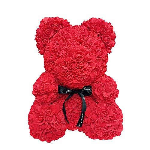 AoJuy 40cm Rosa Oso, Simulación Flor Osito, Corazón Love Espuma Rosa
