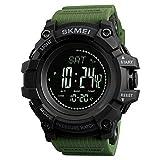 Montre de sport numérique pour homme, boussole étanche, altimètre, baromètre militaire, montre de chasse avec podomètre, chronomètre, minuteur, alarme