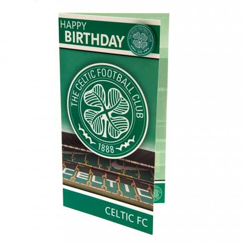 Gift Ideas - Official Celtic FC Birthday Card And Badge - A Great Present For Football Fans