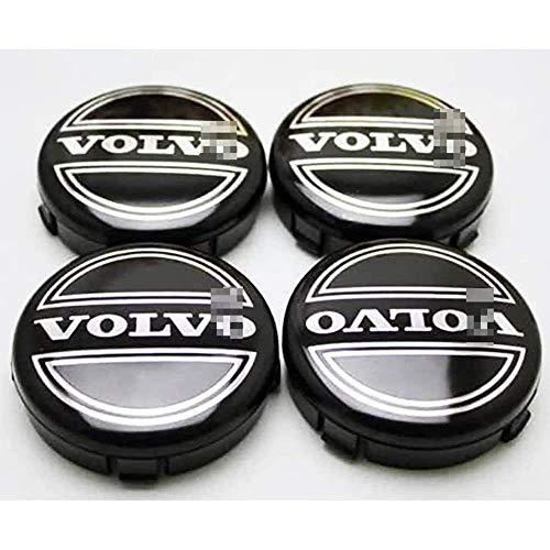 YANQIN para Vol-Vo C70 S60 V60 V70 S80 XC90 4 Piezas Tapas Centrales, Tapacubos Pegatinas Wheel Logotipo Casquillos Hub Caps AutomóViles Accesorios Cubo Coche ProteccióN NeumáTicos