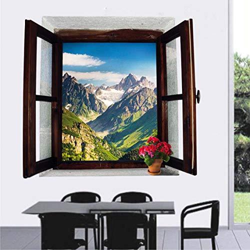 Momorain Nueva ventana falsa escénica simulada etiqueta de la pared 3D fondo de pantalla extraíble para pegatinas de hogar decoraciones para el hogar