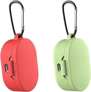 Prettyia Pack De 2 Fundas Protectoras para Auriculares para Redmi Airdots Rojo + Verde
